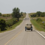 Larry and Linda leading through western Minnesota