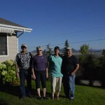 Larry, Linda, Sheila and Merv just before we headed over the divide to Clinton, MT