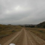 we drove on a lot of gravel today.It is often your only option if you are not on the freeway.