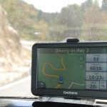 A GPS view of a switchback towards the top of the mountain. We are taking it at 20mph.