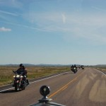 "We met a string of 30 - 50 bikers. Merv says we need to watch ""The Wild One""."
