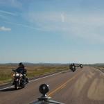 "We met a string of 30 - 50 bikers. Merv says we need to watch ""The Wild One""."
