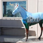 We saw a couple of these painted horse statues