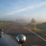 It was foggy when we started out and difficult to keep the windshield clear.