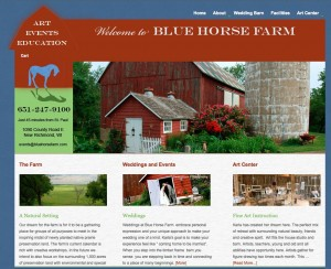 bluehorsefarm.com website designed by Sheila Bergman