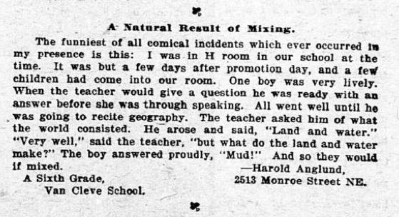 Harold Anglund mpls journal excerpt
