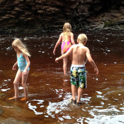 Wading at Amnicon